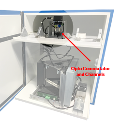 Integrated Optogenetics System for Bussey-Saksida Touch Screens